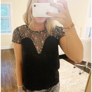 NWT Wren & Willa Lace and Satin Top
